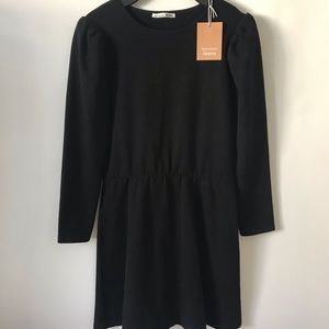 Black reformation jersey dress